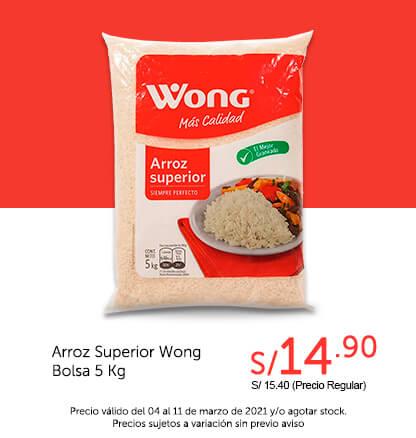Arroz Superior Wong Bolsa 5 Kg