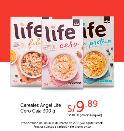 Cereales Angel Life Cero Caja 300 g