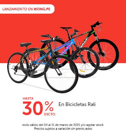 Lanzamiento Wong.pe:Hasta 30% de descuento en  Bicicletas Rali