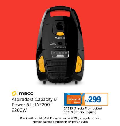 Imaco Aspiradora Capacity & Power 6 Lt IA2200 2200W