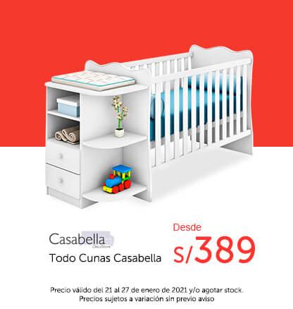 Cunas desde 389 soles (marca Casabella)