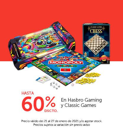 Hasta 60% en Hasbro Gaming