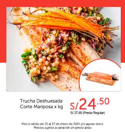 Trucha Deshuesada Corte Mariposa x kg