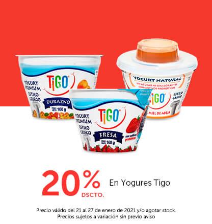 20% Dscto En Yogures Tigo
