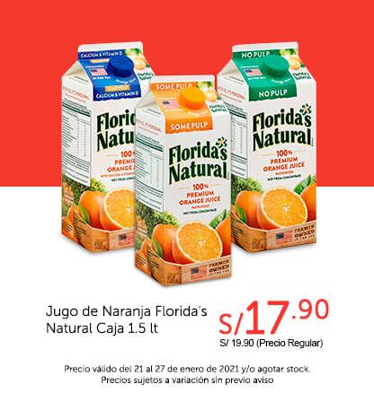 Jugo de Naranja Florida's Natural Caja 1.5 lt