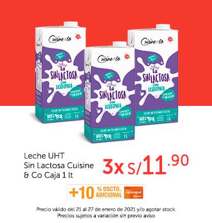 Leche UHT Sin Lactosa Cuisine & Co Caja 1 lt