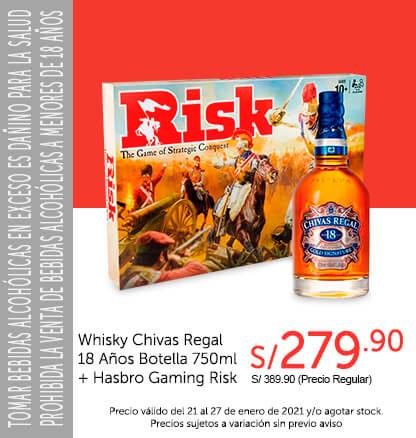 Whisky Chivas Regal 18 Años Botella 750 ml   Hasbro Gaming Risk