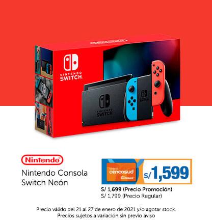 Nintendo Consola Switch Neón