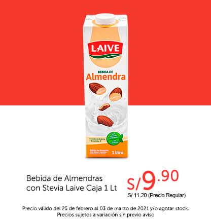 Bebida de Almendras con Stevia Laive Caja 1 Lt
