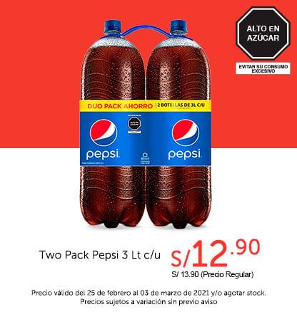 Two Pack Pepsi 3 L c/u