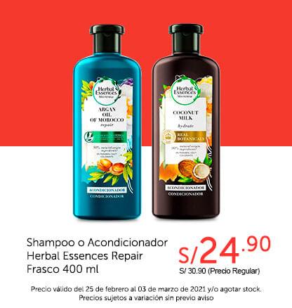 Shampoo o Acondicionador Herbal Essences Repair Frasco 400 ml
