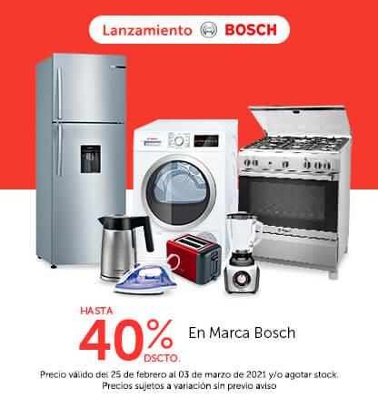 Lanzamiento Marca Bosch - Hasta 40% de Dscto