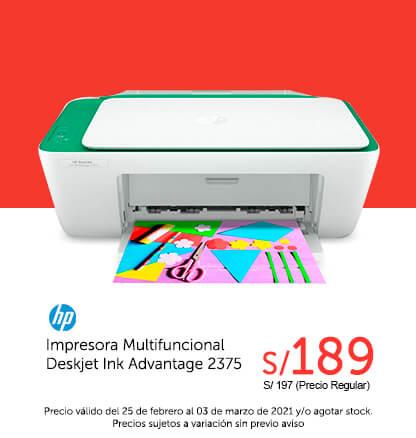 Hp Impresora Multifuncional Deskjet Ink Advantage 2375