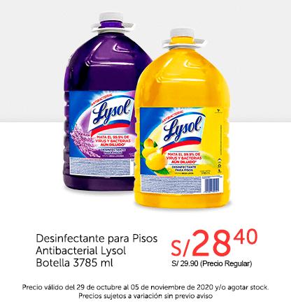 Desinfectante para Pisos Antibacterial Lysol Botella 385ml