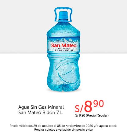 Agua Sin Gas Mineral San Mateo Bidón 7L
