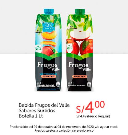 Bebida Frugos del Valle Sabores Surtidos Botella 1L