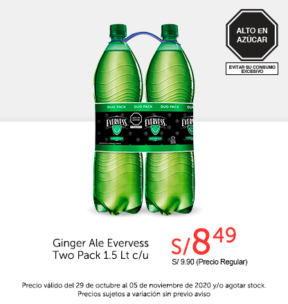 Ginger Ale Evervess Two Pack 1.5L c/u