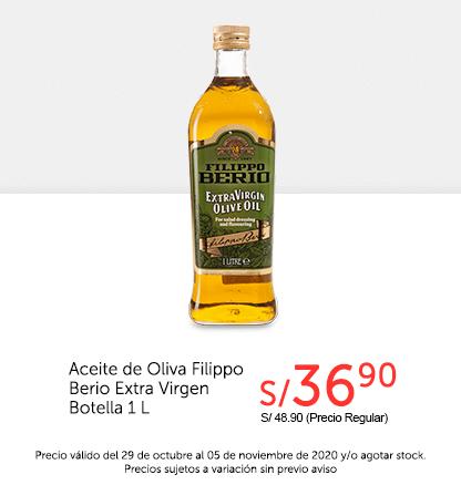 Aceite de Oliva Filippo Berio Extra Virgen Botella 1 L