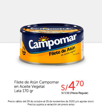 Filete de Atún Campomar en Aceite Vegetal Lata 170 gr