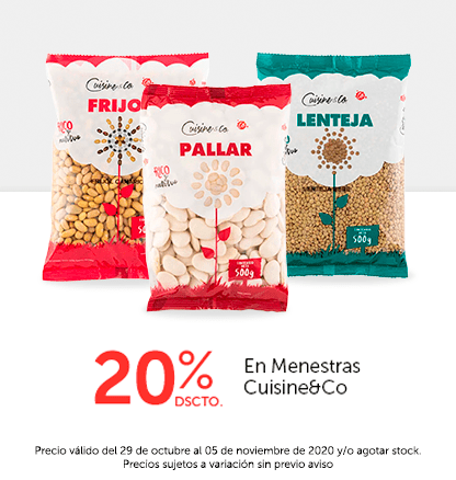 20% Dcto En Menestras Cuisine&Co