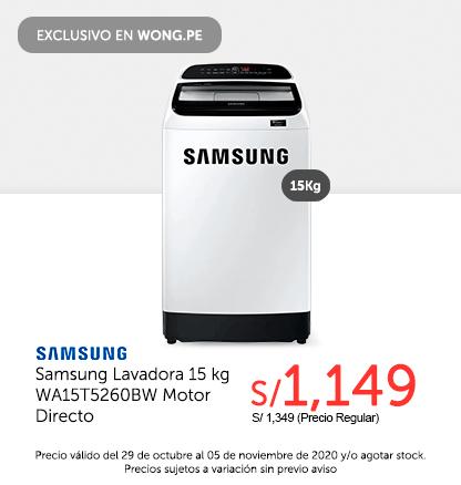 Samsung Lavadora 15 kg WA15T5260BW Motor Directo