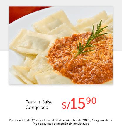 Pasta + Salsa Congelada a S/.15.90