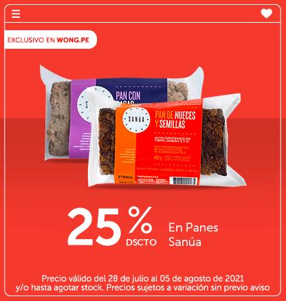 25% Dscto. En Panes Sanúa