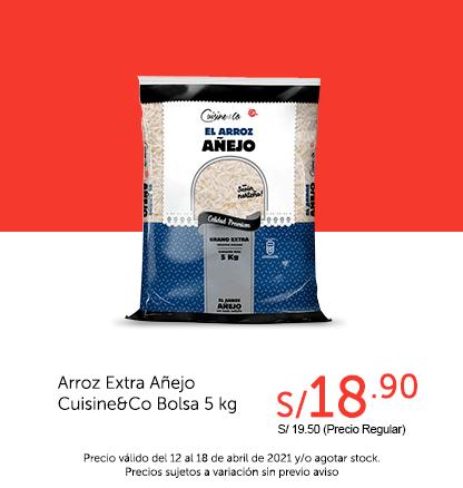 Arroz Extra Añejo Cuisine&Co Bolsa 5 kg