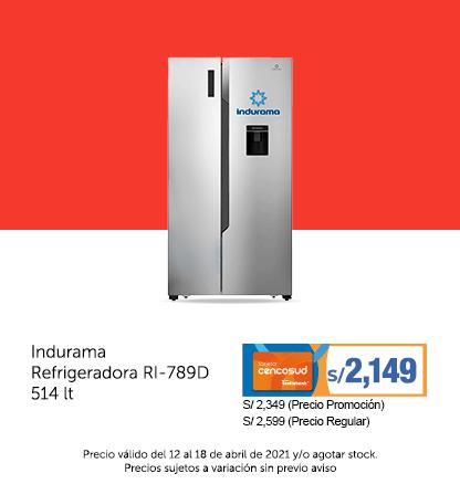 Indurama Refrigeradora RI-789D 514 lt