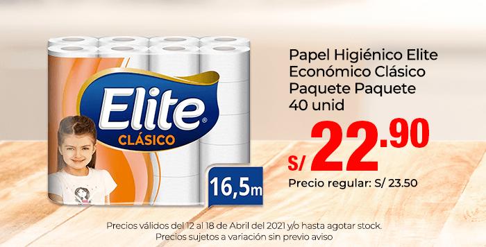 Papel Higiénico Elite Económico Clásico Paquete Paquete 40 unid