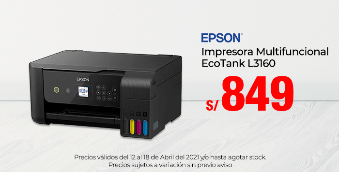 Epson Impresora Multifuncional EcoTank L3160