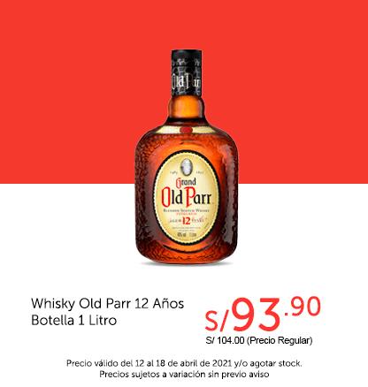 Whisky Old Parr 12 Años Botella 1 Litro