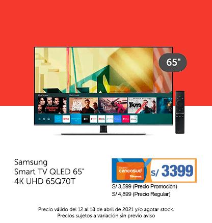 Samsung Smart TV QLED 65 4K UHD 65Q70T