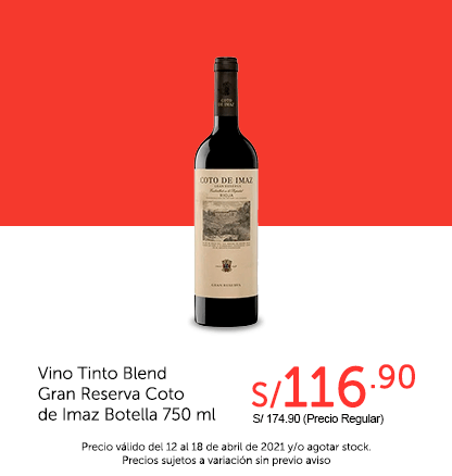 Vino Tinto Blend Gran Reserva Coto de Imaz Botella 750 ml