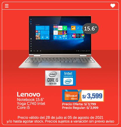 Lenovo Notebook 15.6 Yoga C740 Intel Core i5