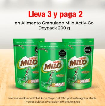 Lleva 3 y Paga 2 en Alimento Granulado Milo Activ-Go Doypack 200 g