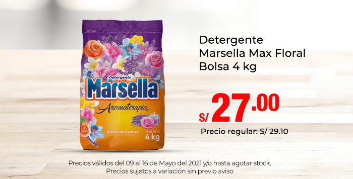 Detergente Marsella Max Floral Bolsa 4 kg