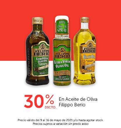 30% Dcto En Aceite de Oliva Filippo Berio