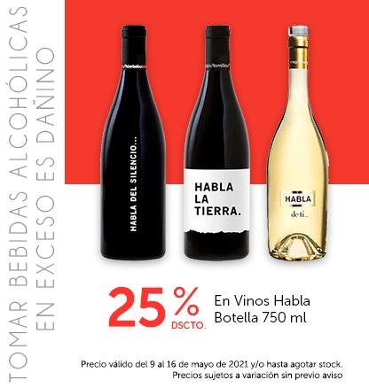 25% Dcto En Vinos Habla Botella 750 ml
