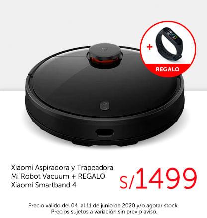 Xiaomi Aspiradora y Trapeadora Mi Robot Vacuum   REGALO Xiaomi Smartband 4