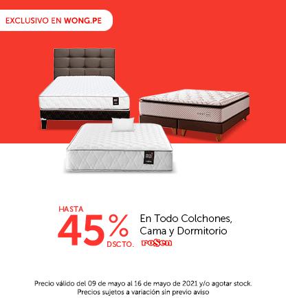 Hasta el 45% en Todo Colchones, Cama y Dormitorio Rosen (Poner Almohada sobre el colchon y logo Rosen)