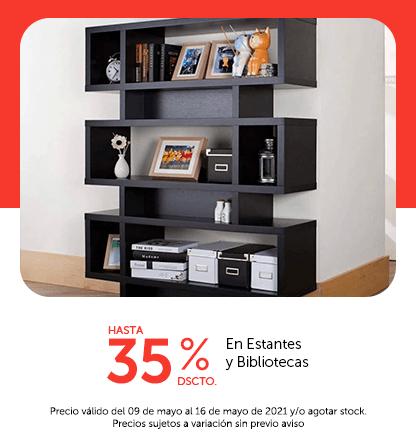 Hasta 35% en Estantes y Bibliotecas
