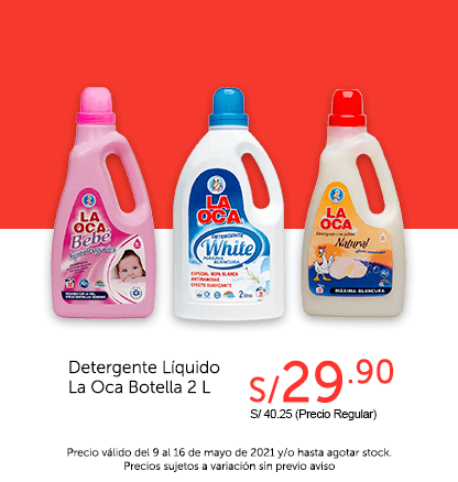 Detergente Líquido La Oca Botella 2 L