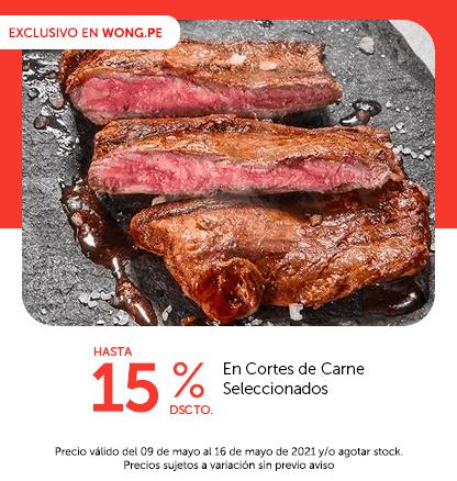 Hasta 15% Dscto. En Cortes de Carne Seleccionados