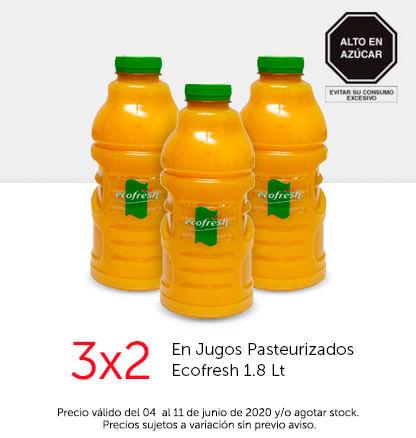 3x2 en Jugos Pasteurizados Ecofresh 1.8 Lt