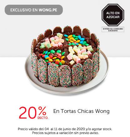 20% Dscto. en Tortas Chicas Wong