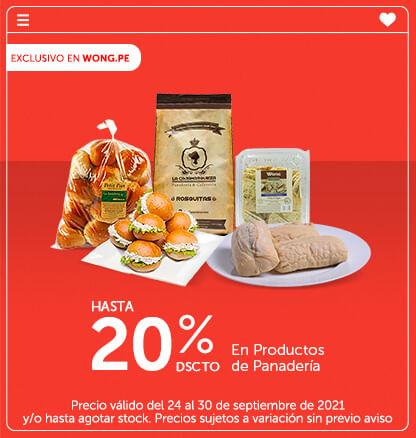 Hasta 20% Dscto. En Productos de Panadería