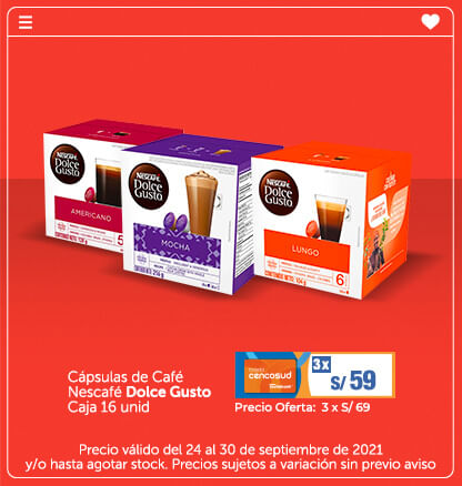 Cápsulas de Café Nescafé Dolce Gusto Caja 16 unid
