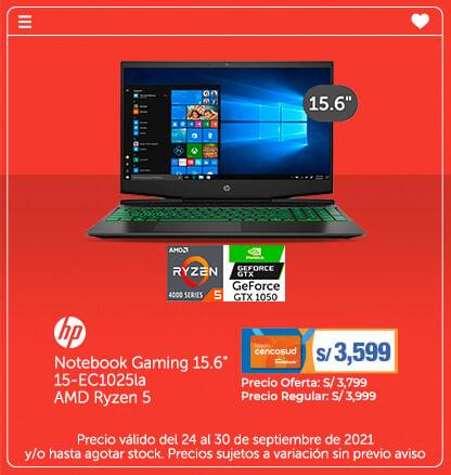 Hp Notebook Gaming 15.6 15-EC1025la AMD Ryzen 5