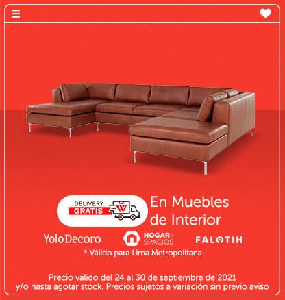 Delivery gratis de Muebles (Yolodecoro, Falotih, Hogar&Spacios)  Válido para Lima Metropolitana